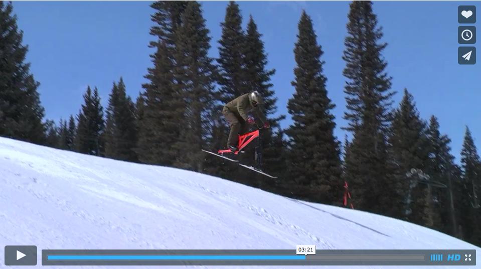 Launch Ski Bike action